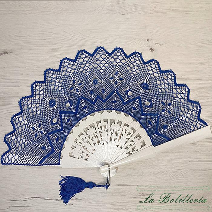 Abanico Azulón - Encajes Artesanos - El Arte al alcance de tus manos