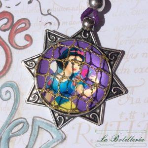 Colgante Estrella Blancanieves - Encajes Artesanos - El Arte al alcance de tus manos