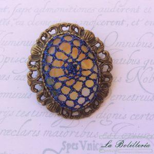 Broche/colgante Azul - Encajes Artesanos - El Arte al alcance de tus manos