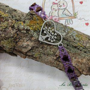 Pulsera Corazón Árbol de la Vida - Encajes Artesanos - El Arte al alcance de tus manos
