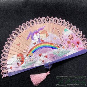 Abanico Dulce Rosa - Encajes Artesanos - El Arte al alcance de tus manos