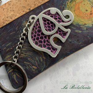 Llavero Elefante Rosa - Encajes Artesanos - El Arte al alcance de tus manos
