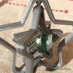 Bola de Navidad Estrella - Encajes Artesanos - El Arte al alcance de tus manos