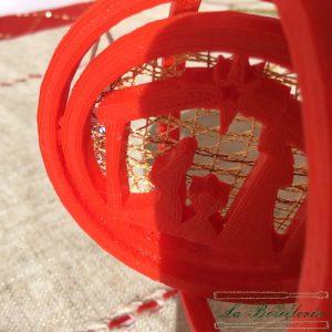 Bola de Navidad Portal de Belén - Encajes Artesanos - El Arte al alcance de tus manos