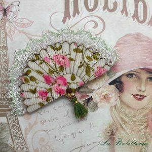 Broche Abanico Romántico - Encajes Artesanos - El Arte al alcance de tus manos