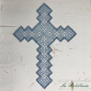 Cruz Azul y Plata - Encajes Artesanos - El Arte al alcance de tus manos