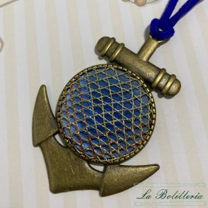Collar Ancla de Barquito - Encajes Artesanos - El Arte al alcance de tus manos